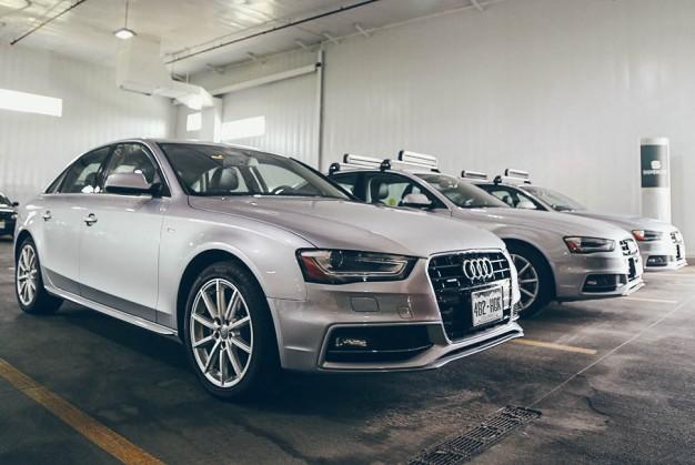 audi silver car a4 luxury rental