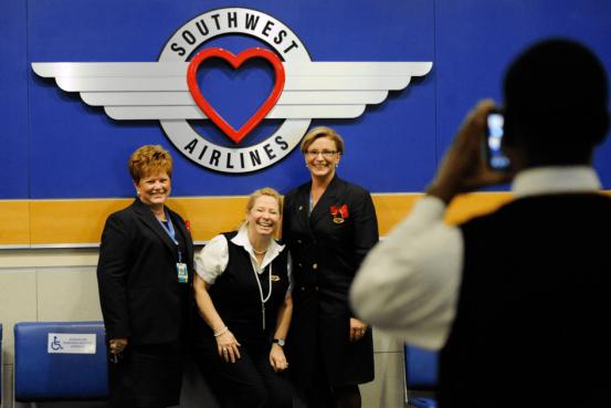 Southwest flight attendant