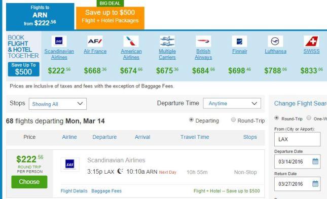 $222 Round-trip