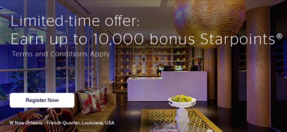 Targeted 10k SPG bonus offer
