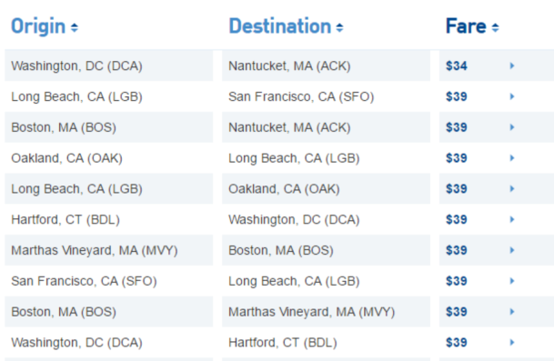 JetBlue flight deals