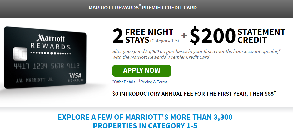 Limited Time Offer – Chase Marriott Credit Card – Two Free Nights + ...
